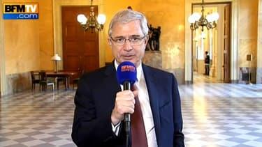 Le président PS Claude Bartolone interrogé par BFMTV, le 19 avril 2013
