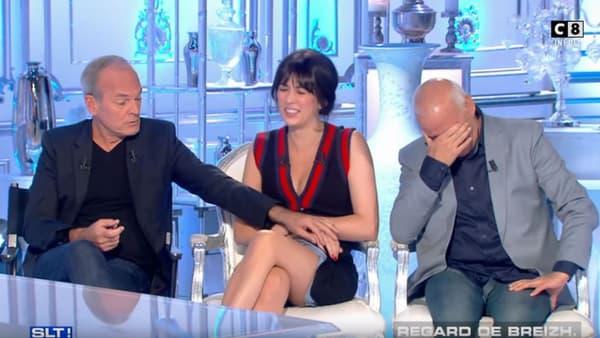 """Laurent Baffie a tenté de soulever à plusieurs reprises la robe de Nolwenn Leroy dans """"Salut les Terriens"""""""