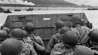 Photo d'archive du Débarquement Allié en Normandie, 6 juin 1944.