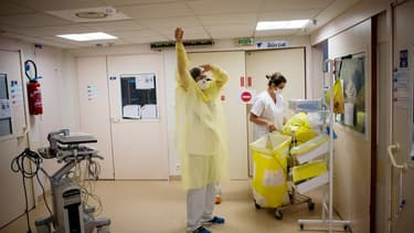 Le personnel soignant du CHU de Nantes le 19 mai 2020.