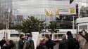 """Le siège de Renault, à Boulogne-Billancourt. L'avocat du constructeur, Jean Reinhart, s'agace de la divulgation dans la presse d'éléments de l'enquête sur l'espionnage dont Renault se dit victime et impute cette """"fuite"""" à la DCRI, chargée de l'enquête pré"""