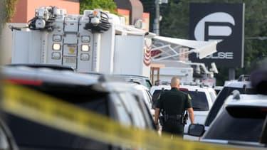 Le club Pulse, théâtre de la fusillade d'Orlando - la pire dans l'histoire des Etats-Unis -  en Floride, à l'aube dimanche 12 juin 2016.