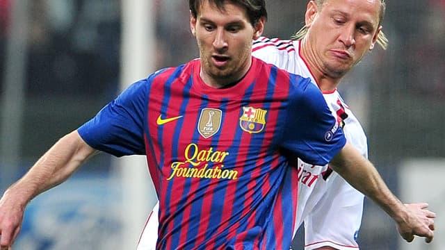 Lionel Messi face à Philippe Mexès