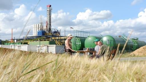 Les anti-gaz de schiste ont obtenu une première victoire en justice face à Hess Oil (Photo: le site d'exploration de l'Américain en Seine et Marne)