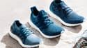Adidas a fabriqué ces chaussures avec des déchets plastiques repêchés dans la mer en partenariat avec l'ONG Parley for the Oceans.