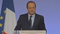 François Hollande lors de ses voeux aux partenaires sociaux