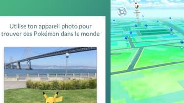 Captures d'écran dans Pokémon Go.