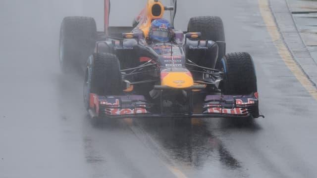 Vettel, entre les gouttes