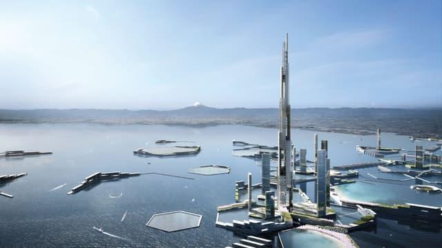 """Le """"Tokyo de demain"""" est un vaste projet imaginé par l'agence Kohn Pedersen Fox Associates"""