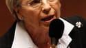 La pression monte au sein de l'UMP pour que Nicolas Sarkozy se sépare de Michèle Alliot-Marie à l'occasion du remaniement gouvernemental qui devrait suivre les élections cantonales de la fin du mois de mars. /Photo prise le 16 février 2011/REUTERS/Charles