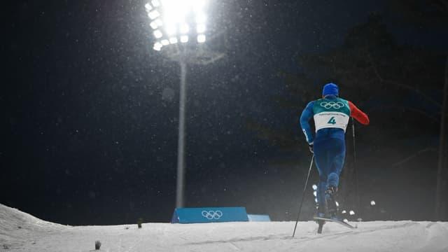 Baptiste Gros au ski de fond.