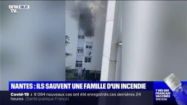 L'incroyable sauvetage d'une famille grâce à une chaîne humaine lors d'un incendie à Nantes