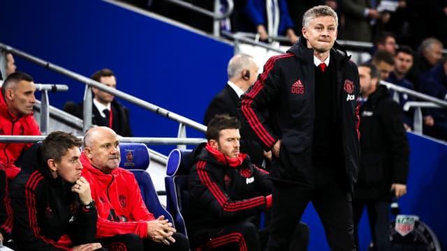 Le staff de Manchester United