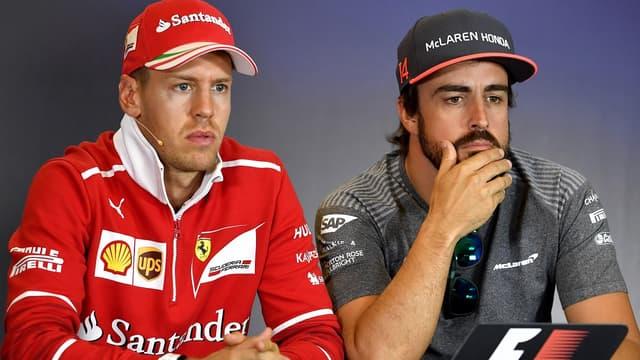 Vettel et Alonso/AFP