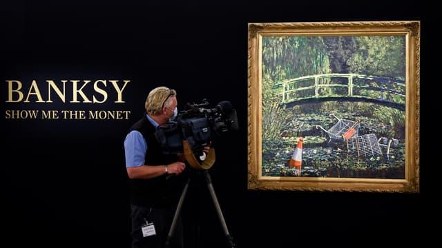 """Le tableau """"Show Me the Monet, de Banksy"""" a été vendu aux enchères par Sotheby's."""