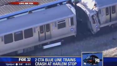 C'est à Forest Park, près de Chicago, qu'a eu lieu la collision entre deux trains.