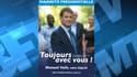Manuel Valls, sur son affiche de campagne.