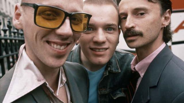 Ewen Bremner, Ewan McGregor et Robert Carlyle dans Trainspotting, en 1996.