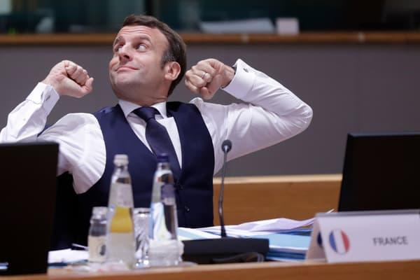 Emmanuel Macron lors du Conseil européen des 10 et 11 décembre.