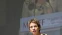 Laurence Parisot a été réélue sans surprise pour trois ans à la présidence du Medef lors de l'assemblée générale de l'organisation patronale, réunie à Paris. /Photo prise le 1er juillet 2010/REUTERS/Gonzalo Fuentes