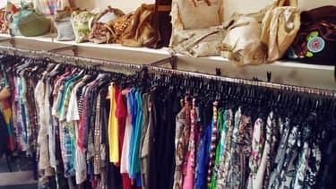 Une boutique de vêtements de seconde main (photo d'illustration)