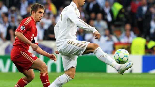 Philipp Lahm et Cristiano Ronaldo