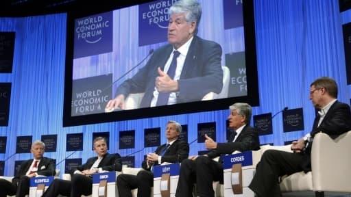 Maurice Lévy, patron de Publicis à Davos début 2013