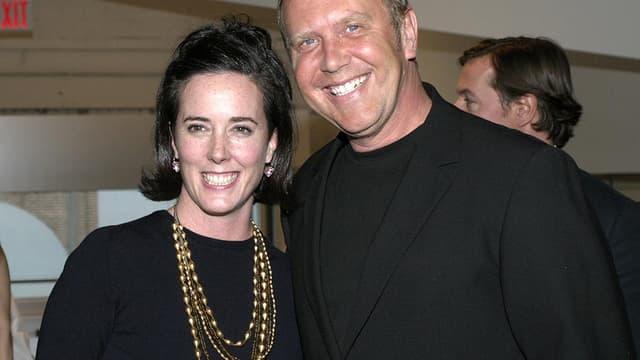 La styliste américaine Kate Spade avec Michael Kors, en 2004.