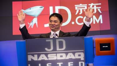 Richard Liu à New York, au moment de l'introduction au Nasdaq de JD.com en mai dernier.
