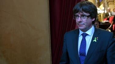 Carles Puigdemont à Barcelone le 27 octobre 2017.