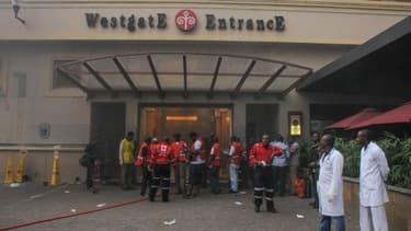 L'entrée du centre commercial Westgate, à Nairobi, dimanche au Kenya.
