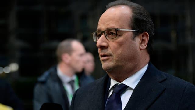 Le chef de l'Etat François Hollande, dimanche 29 novembre 2015 à Bruxelles.