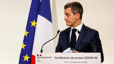 Le ministre de l'Intérieur Gérald Darmanin à Paris le 10 décembre 2020.