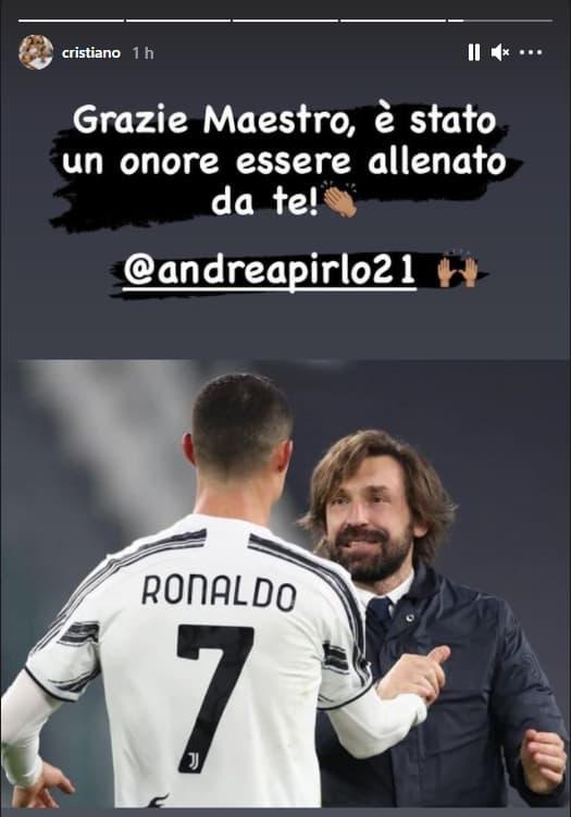 L'hommage de Cristiano Ronaldo à Pirlo