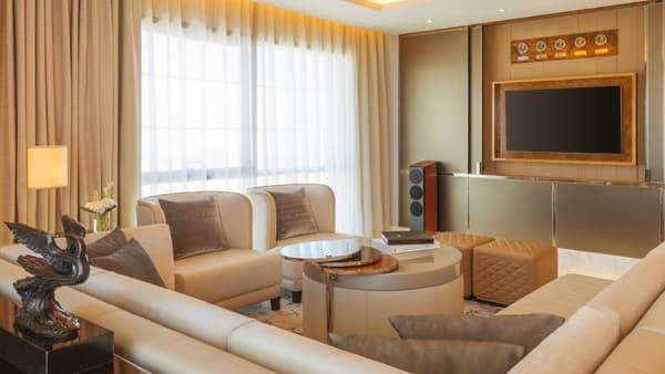 Les suites de la chaine d'hôtel St Regis sont inspirées de la limousine Mulsanne.