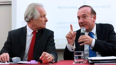 Jean-François Roubaud (à gauche) et Pierre Gattaz étaient réunis, ce mardi 8 octobre, pour exprimer leur exaspération.