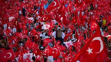 Manifestation à Istanbul en Turquie un an après le putsch manqué de juillet 2016 (Photo d'illustration)