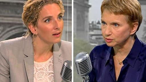 Delphine Batho et Laurence Parisot seront mercredi face à face sur RMC et BFMTV à 8h35.