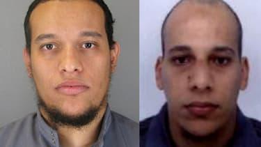 Saïd et Chérif Kouachi, principaux suspects dans la fusillade de Charlie Hebdo.