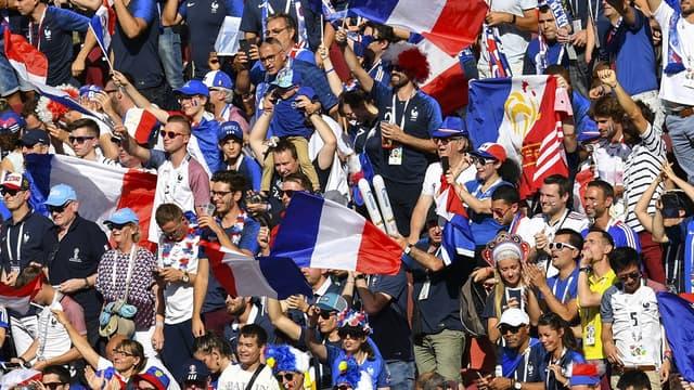Les supporters de l'équipe de France