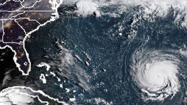 L'image satellite montrant l'ouragan Florence près de la côte est des Etats-Unis, dans l'océan Atlantique ce lundi.