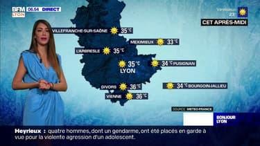 Météo à Lyon: pic de chaleur ce jeudi, jusqu'à 35°C cet après-midi