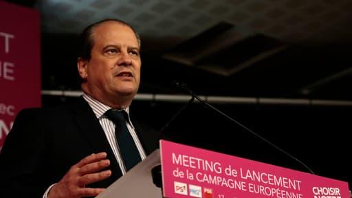 Jean-Christophe Cambadélis lors du meeting de lancement de la campagne pour les européennes, le 15 avril.