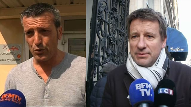 Les eurodéputés Edouard Martin et Yannick Jadot.
