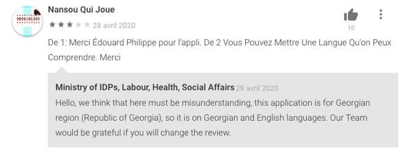 """Des Français se plaignent de ne pouvoir utiliser cette version de """"StopCovid""""."""