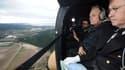 Jean-Marc Ayrault a survolé ce lundi matin les zones sinistrées en hélicoptère.