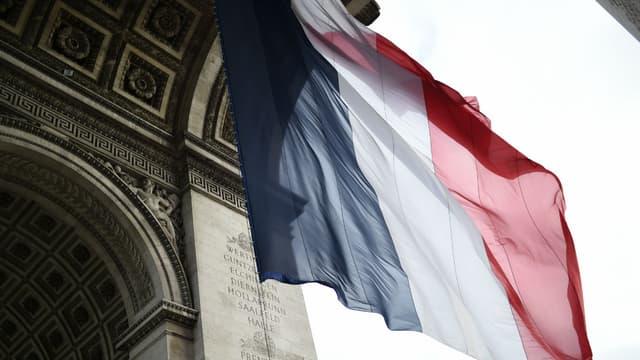 L'Arc de triomphe à Paris le 11 novembre 2016