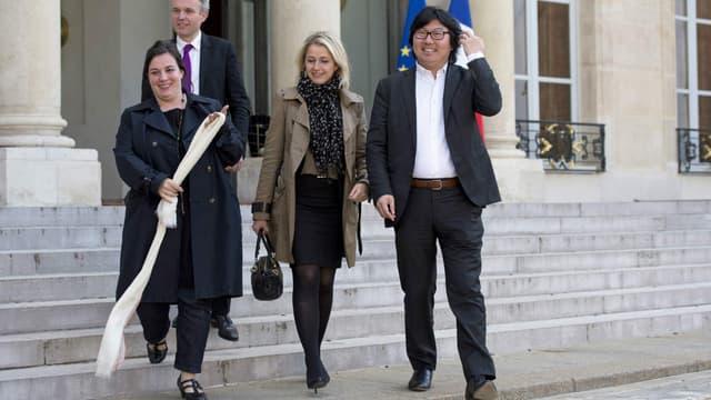 Emmanuelle Cosse, Jean-Vincent Placé et Barbara Pompili rentrent dans le gouvernement de Manuel Valls.