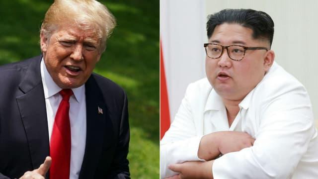 Donald Trump et Kim Jong-un -