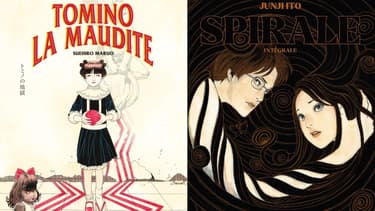 """""""Tomino la maudite"""" et """"Spirale"""", deux classiques du manga d'horreur disponibles en français"""